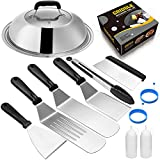 Griddle Accessories Compatible with Blackstone and Camp Chef, Flat Top Griddle Scraper Tool with Melting Dome for Outdoor Cooking, Grill Accessories