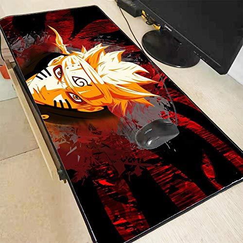 BEDKING Alfombrilla de ratón Anime Japón Naruto Imprimir Bloqueo bloqueo PC Ordenador Juego Almohadilla Almohadilla Teclado borde bloqueo, Impermeable Otaku Ventilador Tabla regalo Alfombrilla De Rató