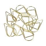 100petits trombones/marque-pages dorés, en forme de goutte d'eau en acier inoxydable - Pour livre, mémo, papier, poster, photo