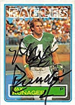 Autograph 124809 Philadelphia Eagles 1983 Topps No. 147 Max Runager Autographed Football Card