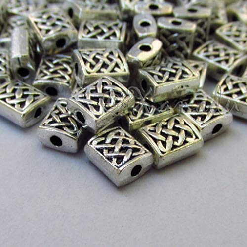 20 Pc Celtic Knot 7mm Antiqued Silver Plated Spacer Beads B5244 - for Pendant Bracelet Jewelry Making - Charm Crazy