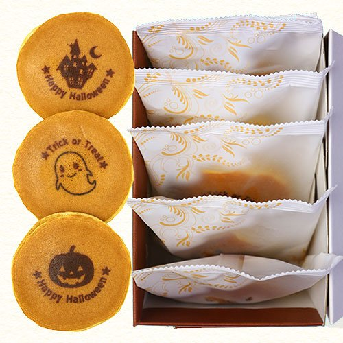 ハロウィン お菓子 どら焼き 5個 化粧箱入り 個包装 和菓子 プレゼント スイーツ