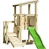 Demmelhuber Blue Rabbit 2.0 Spielturm Cascade mit Rutsche 1,75 m apfelgrün + Kletterrampe...