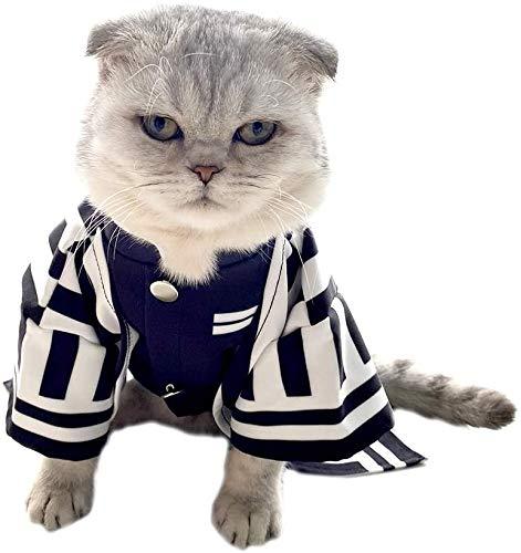 WONGHI Disfraz de gato para perro pequeo cosplay para anime demonios slayer: Kimetsu no Yaiba (pequeo, Iguro Obanai)