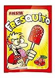 FIESTA Fresquito Caramelo con Palo en Sobre con Polvo Acidulado Sabor Cereza - Caja de 40 unidades