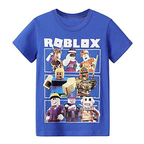 Roblox Camiseta Camiseta de Manga Corta con Estampado de Manga Corta for niños Camiseta Polo for niños Camiseta de algodón con Mezcla de Cuello Redondo for niños niños y niñas