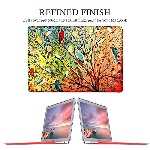 iCasso MacBook Air 13 Zoll Hülle 2020 2019 2018 Release A2179/A1932 mit Retina-Display Touch ID, Durable Hard Plastic Shell Case and Keyboard Cover Compatible New New MacBook Air 13 - Birds