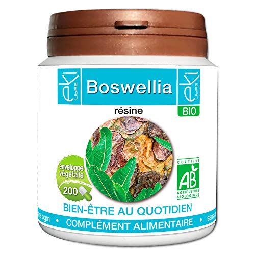 Boswellia serrata BIO | 200 gélules | Bien Être  Quotidien | 200 mg dosage 100% naturel sans additif et non comprimé | EKI LIBRE