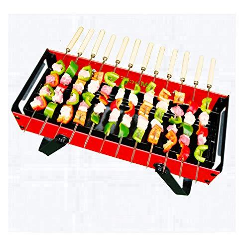 Lin Faltbare BBQ Grill Tragbarer Holzkohlegrill, Geeignet Für Outdoor, Garten, Rot,A