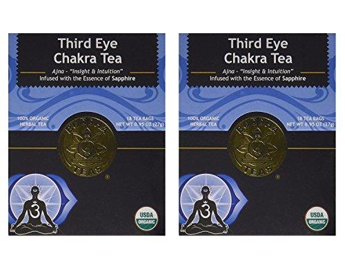 Third Eye Chakra Tea - Organic Caffeine Free - 18 Bleach Free Tea Bags (Pack of 2)