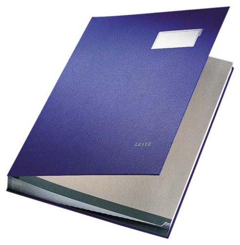 Leitz 57000035 Unterschriftsmappe, 20 Fächer, Überzug PP, blau