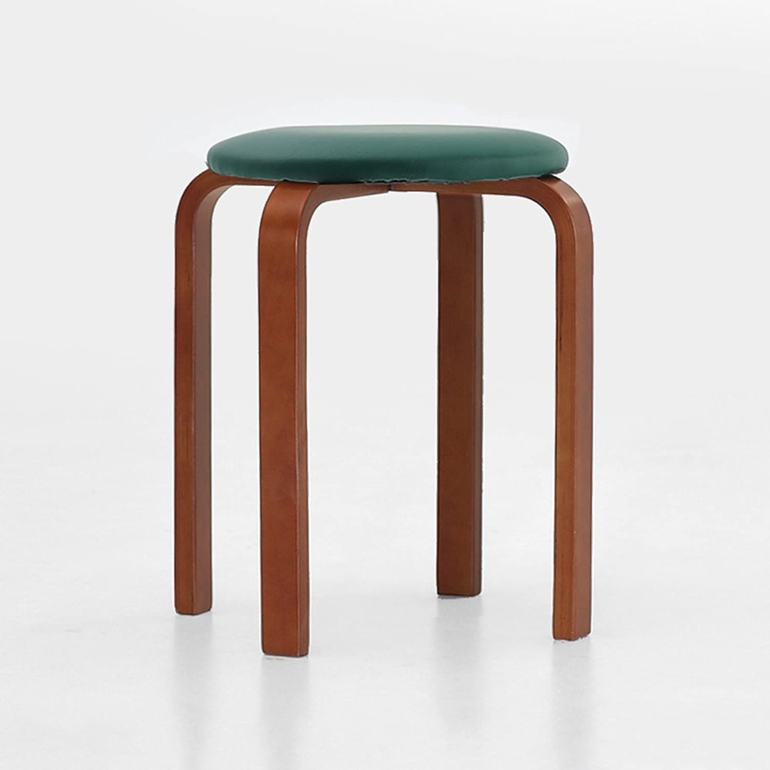 Fashion Creative Bench, Solid Wood High Stool, Adult Table Simple Stool, Modern Restaurant Simple, Round, Chair Can Be Placed, Save Space, Easy Care (color   B)