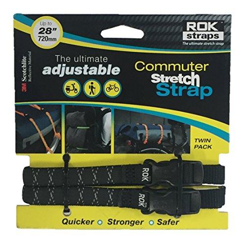 ROK straps (ロックストラップ) Commuter ストレッチ ストラップ ブラック リフレクティブ 2本入り R...