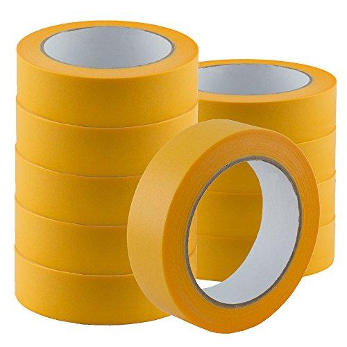3 Rollen Goldband PLUS 30mm Finelinetape Malerband Abklebeband Malerkrepp Washi