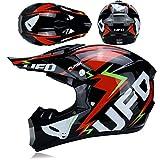 BUETR Casco de moto todoterreno de carreras masculinas de cubierta completa de descenso en bicicleta de barro ATV casco...