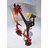 GYINK One Piece Black Leg Sanji Fire Battle Ver Action Figure 17Cm, PVC Vinsmoke Sanji Collection Model Toy Gift Doll