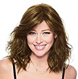 Hairdo Courtside Waves Mid-Length Soft Waves Wig, Average Size Cap, R11S+ Glazed Mocha