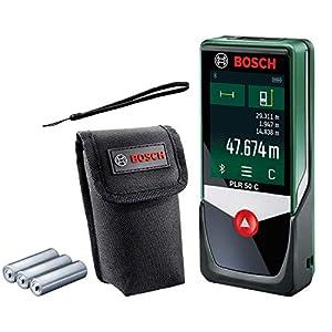 Bosch medidor láser PLR 50 C, rango de medición: 0,05 m – 50 m, pantalla con panel táctil, en caja