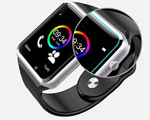 Dama Reloj de pulsera A1 Bluetooth Smart Watch Sport Podómetro con cámara SIM Smartwatch color aleatorio