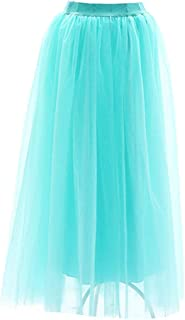 Gonne Donna Casual Gonna Estiva Moda Donna Lungo Principessa Mode di Marca Gonna Balletto Gonna Maxi Gonna Pettiskirt 4 St...