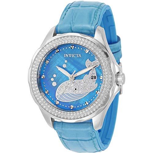 Invicta Wildflower Ballena Reloj de cuarzo con esfera azul 32673