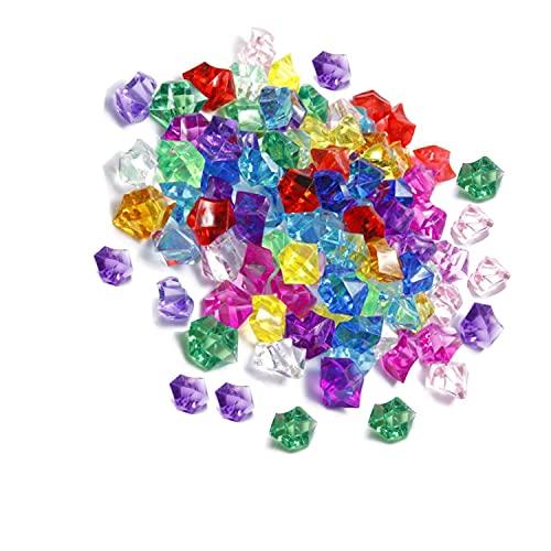 ZHjuju Gemas Acrílicas de Diamante,100 piezasJoyas Pirata Tesoro Multicolores Joyas del Tesoro...
