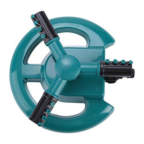 万能散水用具 360°回転給水 庭用 スプリンクラー 散水機 モバイル ガーデンスプリンクラー灌漑システム バタフライベース 直接スプレー&散布スプレー 調節可能 広範囲 園芸散水用(緑)