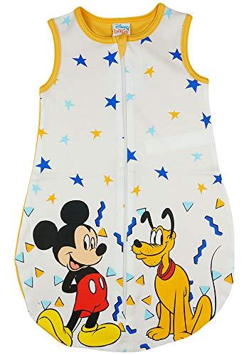 Disney Baby ärmelloser Sommer-Schlafsack in Größe 56 62 68 74 80 86 92 98 104 110 DÜNN Nicht gefüttert 100% Baumwolle, für Jungen mit Mickey Mouse Farbe Modell 2, Größe 68/74