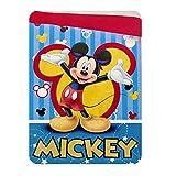 Jerry Fabrics Mickey e Amici Topolino Coperta Matrimoniale di Pile, Poliestere, Multicolour, 260 x 180 x 3 cm