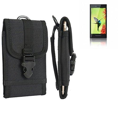 K-S-Trade Handyhülle Für BlackBerry Leap Gürteltasche Holster Handytasche Gürtel Tasche Schutzhülle Robuste Handy Schutz Hülle Tasche Outdoor Schwarz