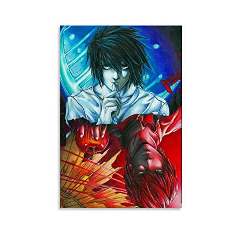 GDFG Póster de la Death Note L Vs Kira Anime Art Art Impresión artística de pared moderna para dormitorio familiar (20 x 30 cm)