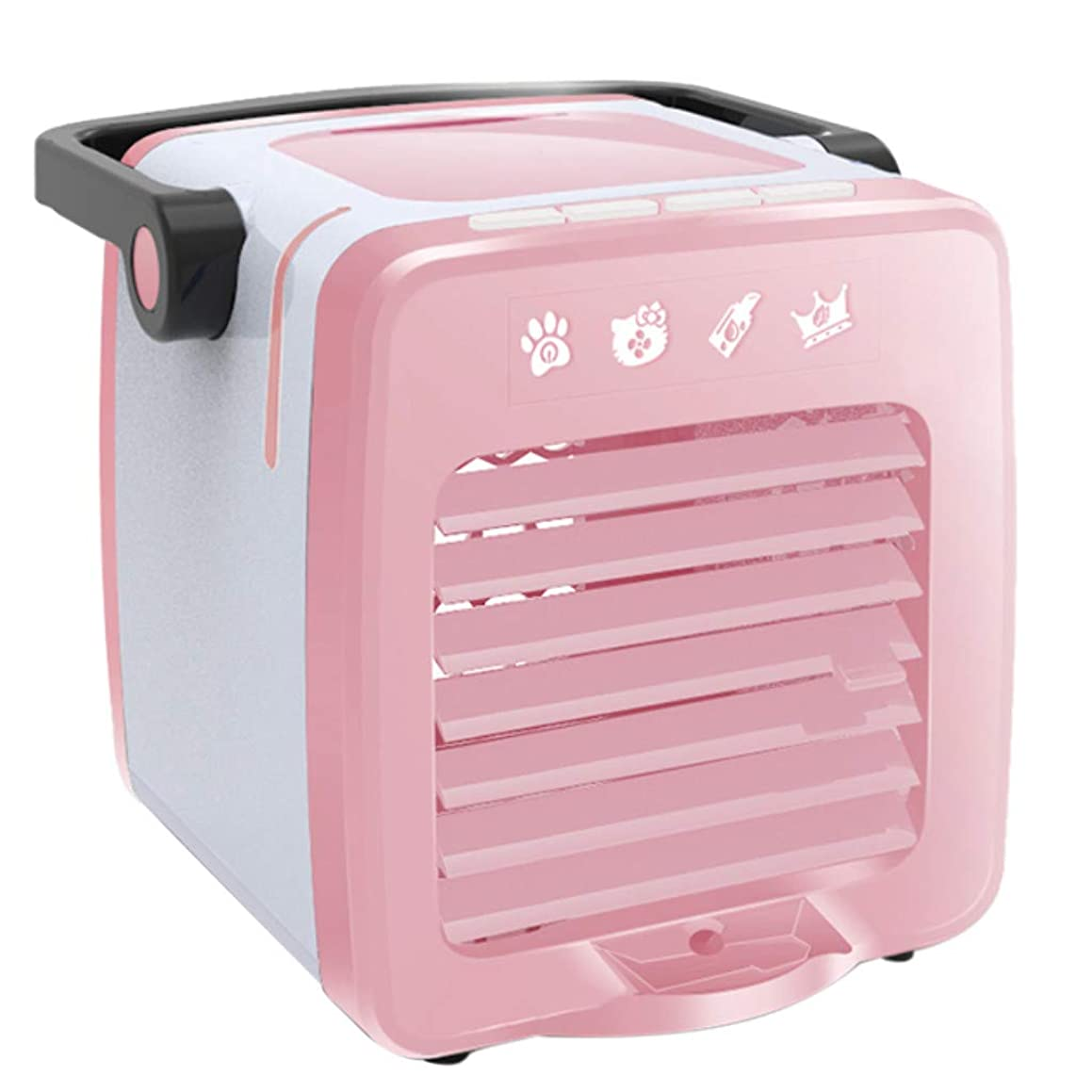 Tpingfe USB Charging Portable Multifunction Air Conditioning Fan Home Refrigerator Coole (Pink)