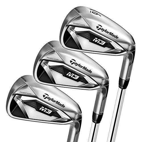 TaylorMade M3 Irons Set (Set of 7 total clubs: 4-PW, Steel Shaft, Right Hand, Stiff Flex)