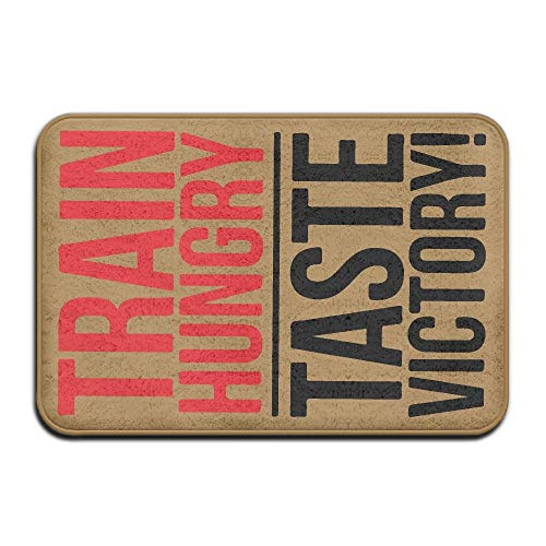 ZHIZIQIU Train Hungry Taste Victory Cheat Day Non Slip Indoor Doormat Bath Mat