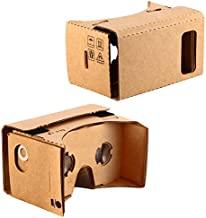 KR-NET Bigger Google Cardboard - VR 3D Virtual Reality Glasses Camera Headset Controller DIY Kit for Large Smart Phone Galaxy Note 3 4 5 iPhone 6/6S Plus 5.7