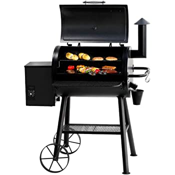 BIG HORN Pellet Grill and Smoker, 700 Sq. In. Cooking Area with Digital Auto Temperature Control and Temperature Gauge