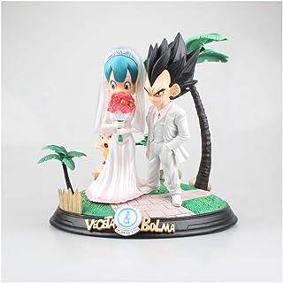 HappyL Dragon Ball Anime Statue Vegeta y Bulma Married Scenes Exquisito Anime Statue -26CM Estatua de Juguete