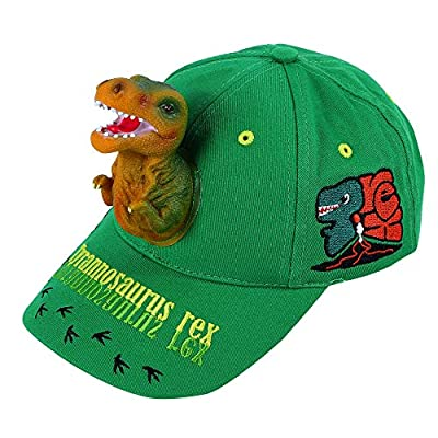 Boy's Hats 3D T-rex Dinosaur Baseball Caps Trucker Girl Summer Sun Sports Outdoor Snapback Green