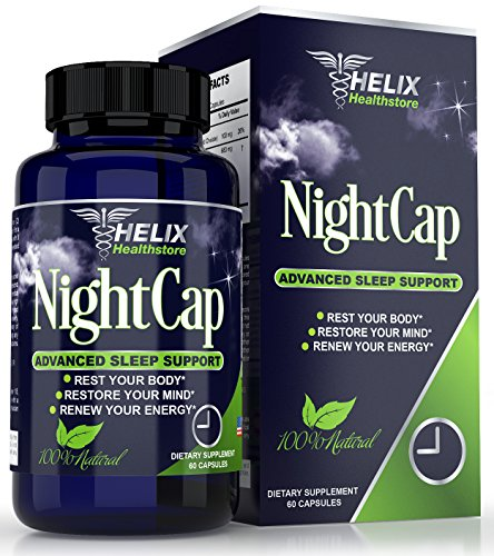Natural Sleep Aid for Adults with Valerian Root Extract Melatonin GABA & Lemon Balm - Best Herbal Sleeping Pills Extra Strength - Deep Sleep Formula - Non Habit Forming Supplement - 60 Vegan Capsules