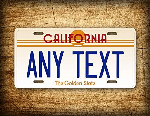 Fhdang Decor Custom California Vintage Placa de Licencia 1980 Retro Cu