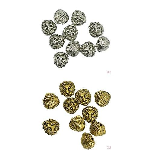 baosity 20unidades Metal cabeza de león collar colgantes charms Beads DIY Jewelry Making conclusiones