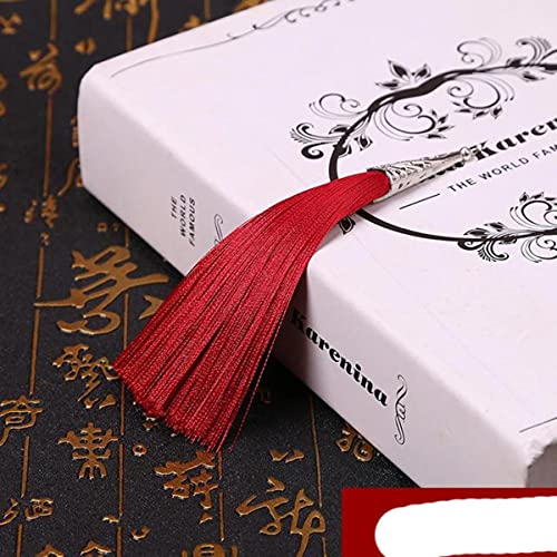 2PCS 14cm Cono cappuccio in lega di seta nappa frangia cucito botto nappa trim decorativo tenda nappa per gioielli artigianali fai da te fare innesto-vino rosso