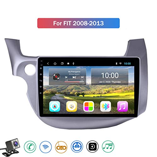Android 8.1 GPS Navigazione Sistemi Multimediali per Honda Fit Jazz 2008-2013 con 10.1 Pollici Touch Screen, Supporto Car Radio/Chiamate Bluetooth/Park Assist,Lhd,4G+WiFi: 1+16GB