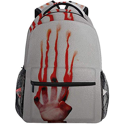 Backpack Bolsa De Hombro De Mano De Sangre Mochilas De Viaje para Computadora Portátil Mochila para Adolescentes Mochilas Escolares Hombres Mujeres Mochila Escolar