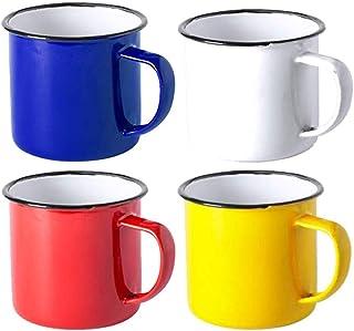 FUN FAN LINE – Set Tasses Vintage, Tasse Retro, Mug Old School, métallique, dans une boîte cadeau (Couleurs varièes) (Mult...