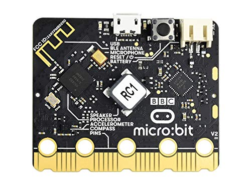 Waveshare BBC Micro:bit V2 Upgraded Processor Built-in Speaker and Microphone with Touch Sensitive Logo