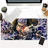 Dmsbzd Smoker Sumōkā Zigarre Navy Lieutenant One Piece Serie Weit Spiel Mauspad PC Big Table Mat Größe Komfortgriff Anti-Rutsch-Lock-Laptop-Tastatur-Pad (Größe : 900 * 400 * 3mm)