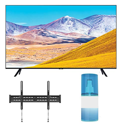 "Samsung UN50TU8000 50"" Crystal 8 Series 4K Ultra High Definition Smart TV with a Walts TV Large/Extra Large Tilt Mount for 43""-90"" Compatible TV"