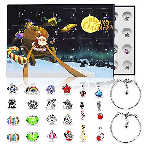 Devis Advent Calendar for Girls 2020 Christmas Countdown Calendar DIY Bracelets Making Kits Xmas Gifts Box for Kids Teen Women (Night)