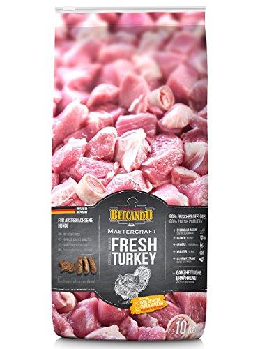 Belcando Mastercraft Fresh Turkey [10kg] Trockenfutter für Hunde | 80% Frischfleisch | Hundefutter getreidefrei | für alle Rassen